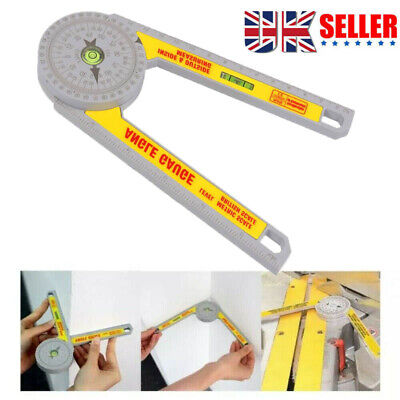 UK Angle Finder Miter Saw Protractor Measuring Ruler Tool Goniometer Pro Durable • 7.99£