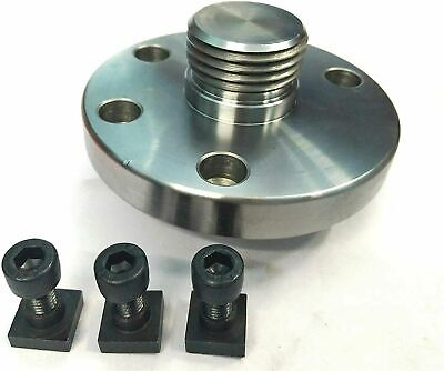 100 Mm Back Plate Adaptor For Rotary Table +T Nuts • 24£