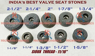 VALVE SEAT GRINDING STONES SET OF 10 PCS For SIOUX HOLDER 11/16  Thread 80 Grit. • 32.45£