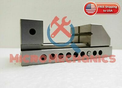 2'' Screwless Tool Making Grinding Precision Ground Vise .0002  Square Parallel • 70.52£