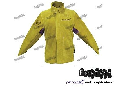 Parweld Panther Leather Welders Jacket Protective Clothing Welding P3788 Size L • 46.95£