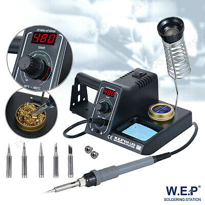 60W WEP Soldering Iron Station Rework Variable Temperature Stand Digital LED UK  • 27.99£