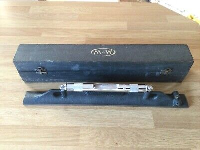 Moore And Wright Vintage Engineer's Precision 18 Inch Spirit Level Original Box • 80£