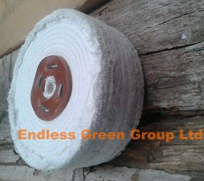 4  Stitched Cotton Buffing Wheel 100mm X 50mm  Metal Polishing & Cleaning C100/4 • 17.75£