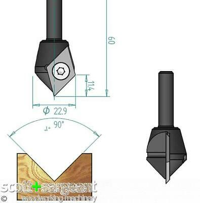 CMT V Groove & Engraving Router D=23 S=6.35    Price Is Inc VAT@ 20% • 31.20£