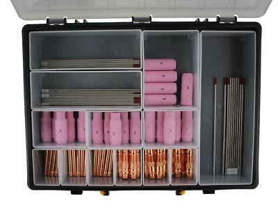 TIG Welding Torch Consumables Kit AC/DC 81 Piece For WP17/18/26 With Case • 107.94£