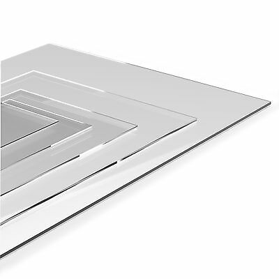 Clear Perspex Acrylic Sheet Panel Laser Cut To Size Plastic Extrude XT Material • 8.20£