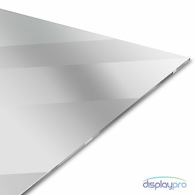 Silver Acrylic Mirror Perspex Sheet Plastic Material Panel A6 A5 A4 A3  • 54.48£