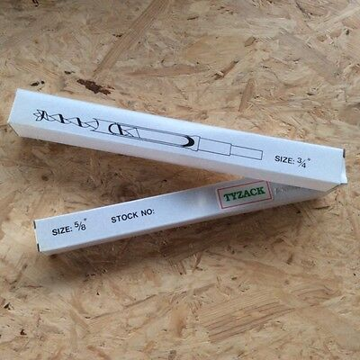 Tyzack White Box 5/8 +3/4  Morticer Chisels & Bits  3/4  Shank Multico • 69£