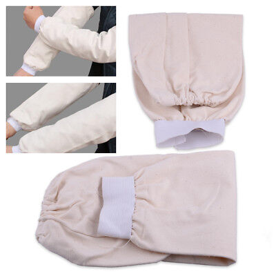 1Pair 15  Cotton Fabric Welding Protection Sleeves Arm Protector Flame Resistant • 4.49£