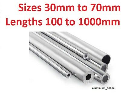 ALUMINIUM ROUND TUBE 35mm 38mm 41mm 45mm 48mm 51mm 57mm 64mm 70mm Select Size • 14.69£