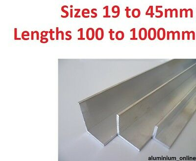 ALUMINIUM ANGLE UNEQUAL 19mm 25mm 32mm 38mm 45mm L Profile Select Size & Length • 8.67£
