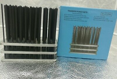 28 PC Imerial  Transfer Punch Set,3/32 To 1/2 By 1/64inch, Plus 17/32inch  • 27.16£