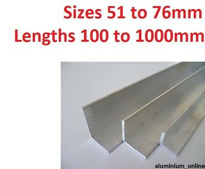 ALUMINIUM ANGLE UNEQUAL 51mm 57mm 63mm 76mm  L Profile Select Size In Listing • 9.29£