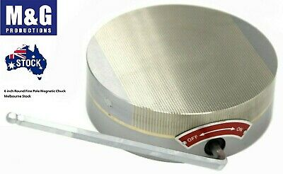 Round Fine Pole Permanent Magnetic Chuck Dia.6 X2  Free Delivery • 140.74£