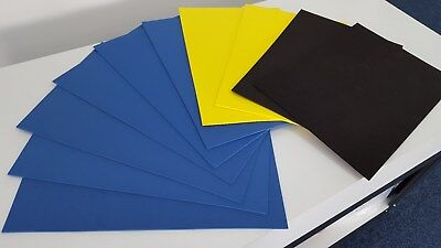 10 X A3 Sheets Of JIFFY FOAM - For 3D Embroidery & Crafting - Blue • 19.99£