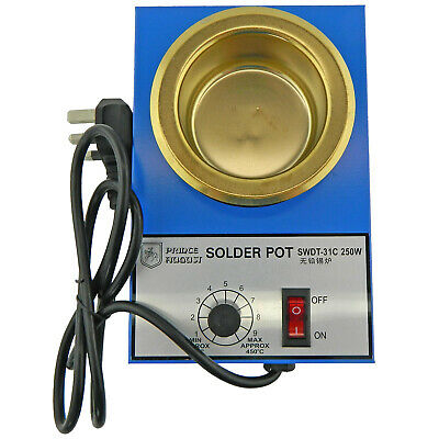 Solder Melting Pot 250w Temperature 200-450c With UK Plug For Hobby Casting. • 25.45£