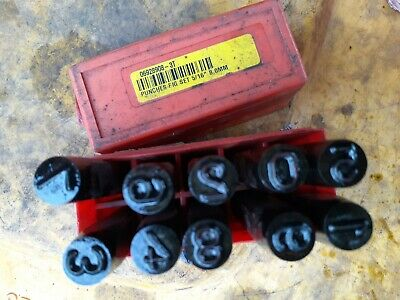 PRIORITY Size 5/16  / 8mm Number Punch Set . England. • 21.90£