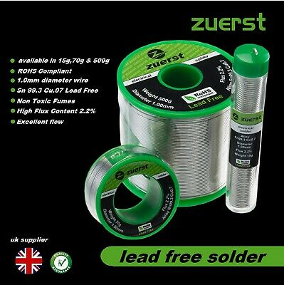 Zuerst Solder Wire  1mm  Quality Lead Free Soldering • 24.95£