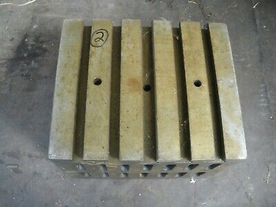 Engineers Cube Box Plate Angle Plate T Slotted Cast Iron 12 X 10 X 9  Block (2) • 180£