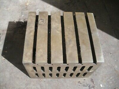 Engineers Cube Box Plate Angle Plate T Slotted Cast Iron 12 X 10 X 9  Block (3) • 180£