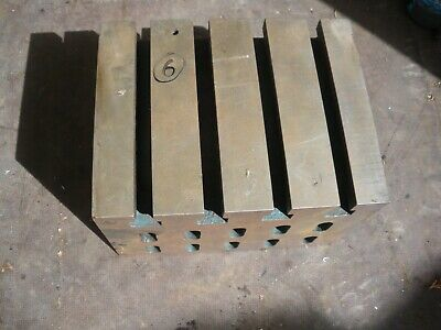 Engineers Cube Box Plate Angle T Slotted Cast Iron 9  X 7  X 6 1/4  Block (6) • 110£