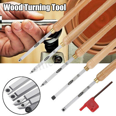 Lathe Wood Turning Tool Chisel Carbide Insert Cutter Square Shank W/ Wood  Z • 43.96£