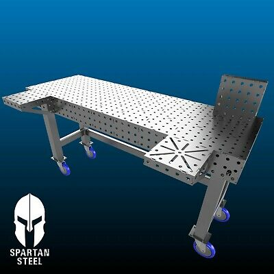 Laser Cut Welding Bench / Fixture Table, 1800mm X 600mm,16mm Holes TOP ONLY • 600£
