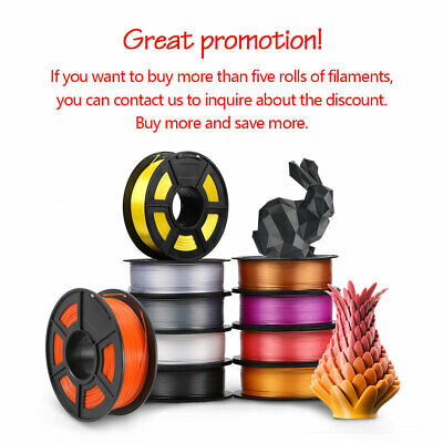 3D Printer Filament ABS PLA PETG PLA+ TPU 1.75mm 1KG/2.2LB Printing Material • 18.20£