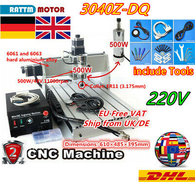 500W DC 3Axis LPT Desktop 3040Z-DQ CNC Router Woodworking Mill Drill Machine〖UK〗 • 515.99£
