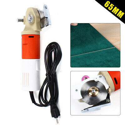 65mm Blade Electric Round Cutter Cloth Fabric Cutting Machine Dressmaker Scissor • 45.60£