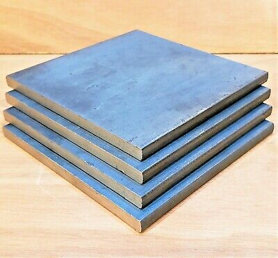 Mild Steel Sheet Metal Plate 3, 5, 6, 8, 10, 12, 15, 20mm Thick 100x100mm Square • 5.50£