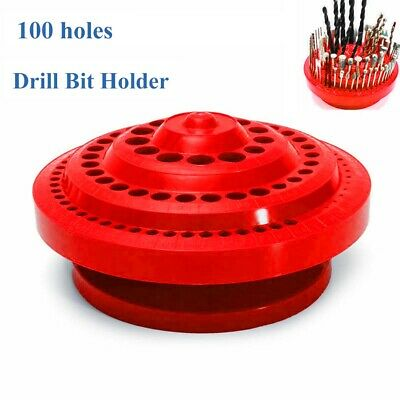 1X Drill Bits Holder Storage Case 1* 100 Holes PP 1-13mm Large Capacity • 9.15£
