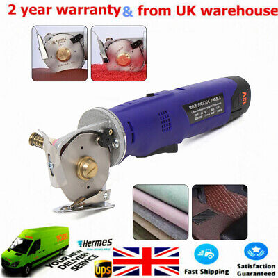 40W Portable Round Electric Cloth Cutter Fabric Cutting Machine With 70mm Blade • 76£