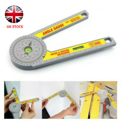 UK Angle Finder Miter Saw Protractor Measuring Ruler Tool Goniometer Pro Durable • 9.99£