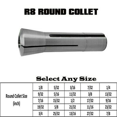 R8 Round Chuck Tow Bar Thread 7/16 -20 Hardened Polished Holder Metalworking • 11.28£