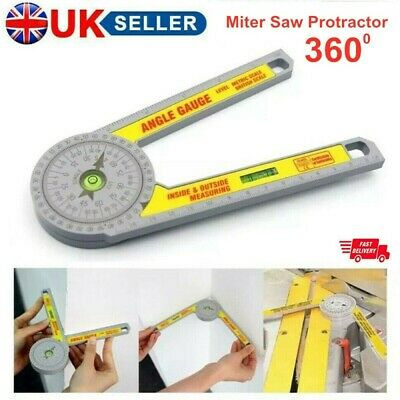 Angle Finder Miter Saw Protractor Measuring Ruler Tool Goniometer Pro Durable • 7.59£