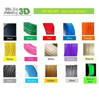 3D Printer Filament PLA 1.75mm, 20+ Colours - 100m 50m 20m 10m Lengths - Reprap • 16£