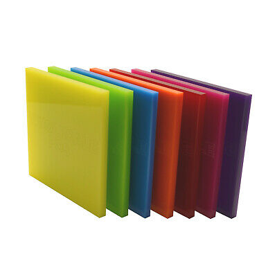 Acrylic Perspex® Colour, Clear, Mirror, Tinted & Frosted Sheet Cut To Size Panel • 31.12£