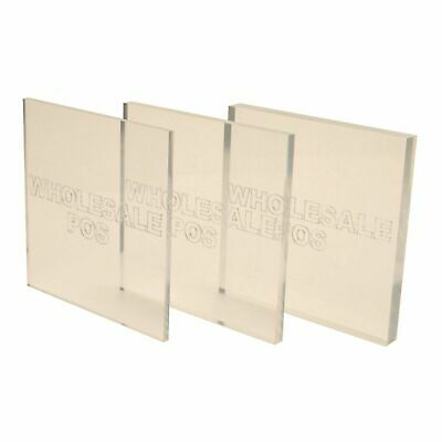 Clear Acrylic Plastic Perspex® Sheets / Stock Sizes + Custom Cut To Size Panels • 43.89£