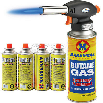 Blow Torch Butane Flamethrower Burner Welding 4 Gas Auto Ignition Soldering Weed • 12.99£