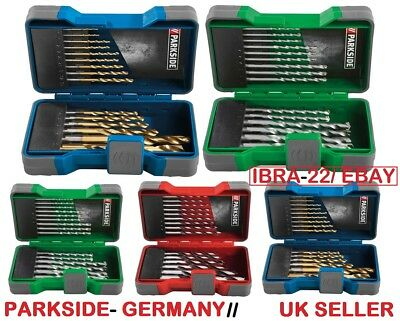 HSS Steel Drill, Masonry Drill And Wood Drill Bits-15 Pieces Tool Set- Germany • 12.99£