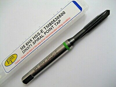 M5 X 0.8 SPIRAL POINT TAP HARDSLICK HSS-E GREEN RING TM80530500 EUROPA TOOL  56 • 10.90£