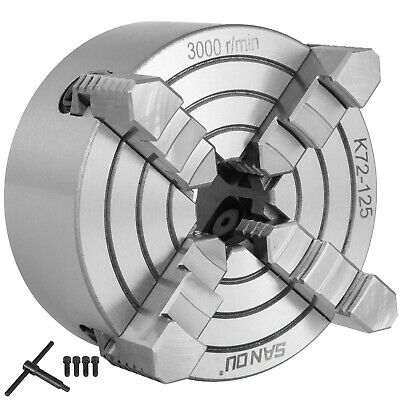 K72-125 5  4 Jaw Lathe Chuck Independent Plain Back Reversible 125mm • 45.03£