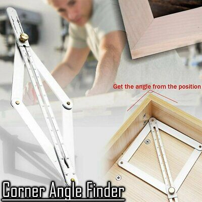 Aluminum Alloy Corner Angle Finder Ceiling Artifact Tool Square Protractor AK • 9.45£