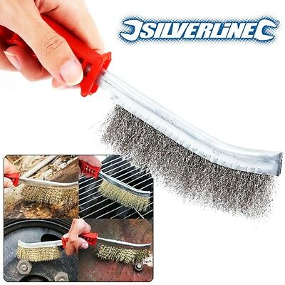 12x HEAVY DUTY WIRE BRUSHES Steel/Brass Rust Paint Ingrained Dirt Removal Clean • 23.99£