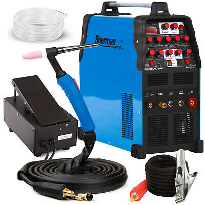 TIG Welder 200 AMP AC DC Pulse Welding Machine Aluminium SHERMAN TIG 210 PULSE • 545£