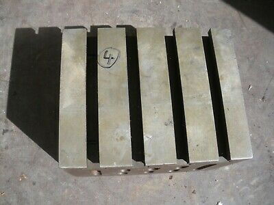 Engineers Cube Box Plate Angle Plate T Slotted Cast Iron 9 X 7 X 6  Block (4) • 100£