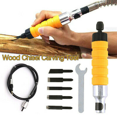 Electric Wood Carving Engraving Hand Chisel Tool Woodworking W/Free 5 Chise • 11.57£