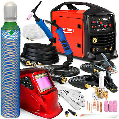 3 In 1 Welder Welding Machine MIG TIG MMA Gasless 200 AMP Portable Inverter SET  • 589£